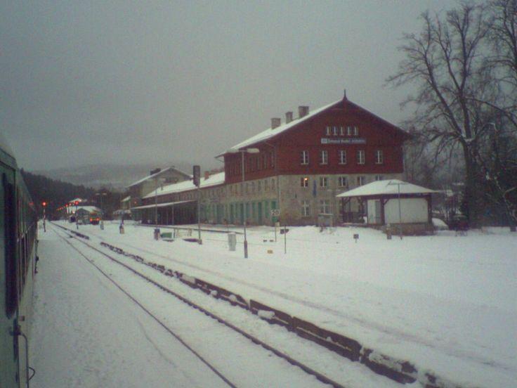 vlakové nadraží Železná Ruda Alžbětín
