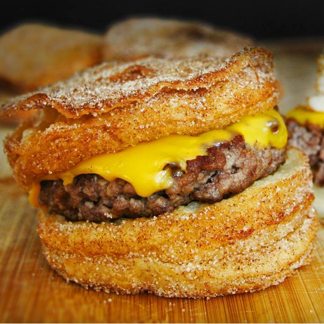 Existence of the cronut burger equal parts glorious and horrifying!!!