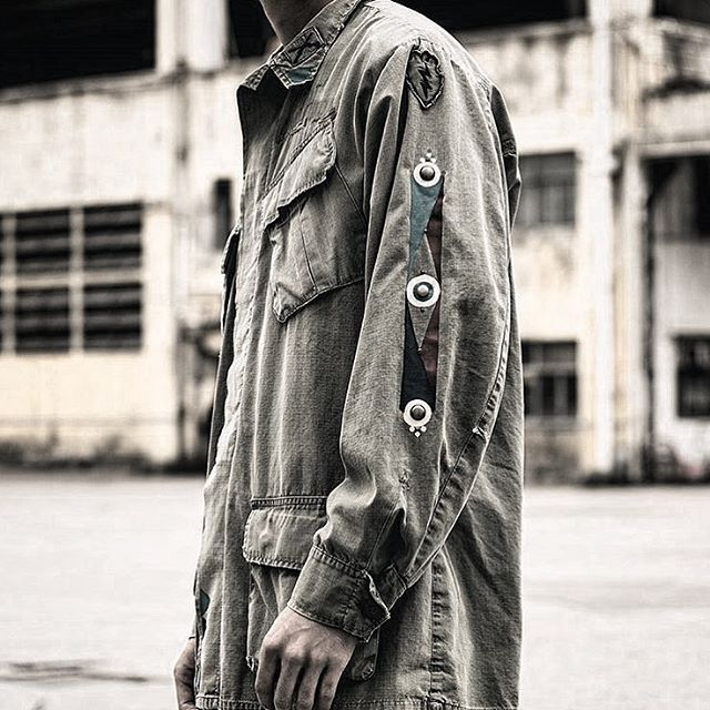 // The new exclusive H Bomb Military Jacket by HTC Los Angeles is now available online on @hbx 🔥Each piece is created and finished by hand by our artisans // #htclosangeles #hollywoodtradingcompany #weareartisans #hbx #hypebeast #hypebeaststyle #militaryjacket #beunique #HTCss17