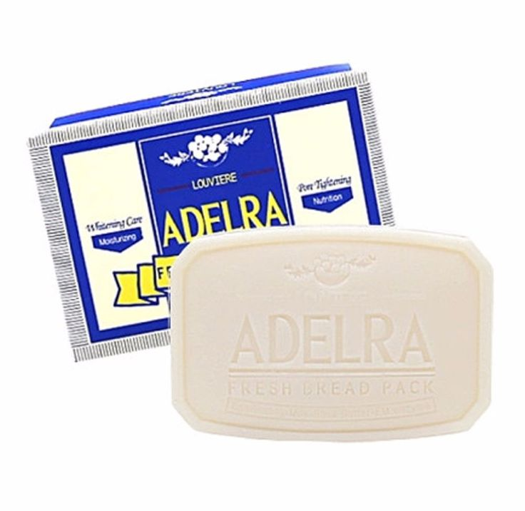 Louviere Adelra Fresh Bread Pack Bubble Cleansing Soap #Louviere