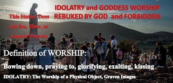 DEFINITION OF WORSHIP to idols. BOW DOWN TO, PRAY TO, GLORIFYING. God said I WILL NOT SHARE MY GLORY WITH ANOTHER