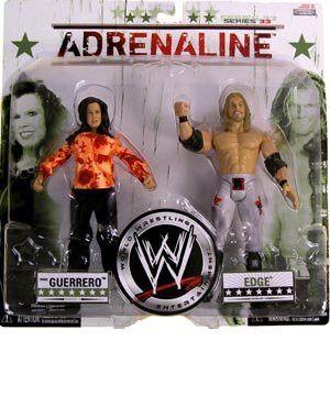 EDGE & VICKIE GUERRERO ADRENALINE 33 WWE JAKKS ACTION FIGURE **IN STOCK**