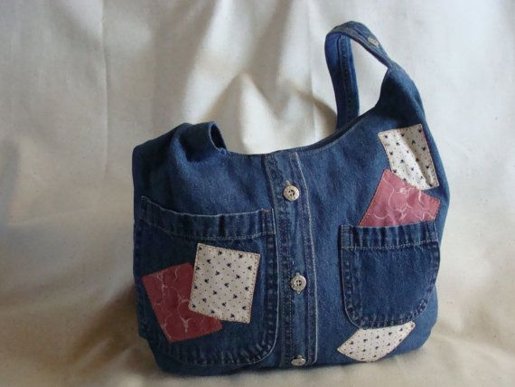 My favorite denim bag.♡♥ by InnerCreativeChild on Etsy, $65.00