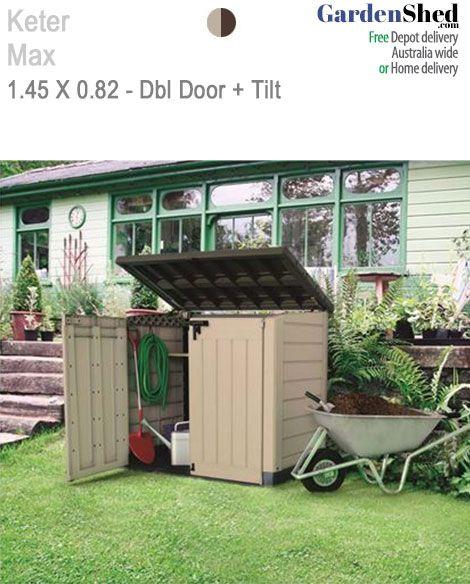 Store It Out Max 1.455m(W) x 0.82m(D) Dbl Door + Lid