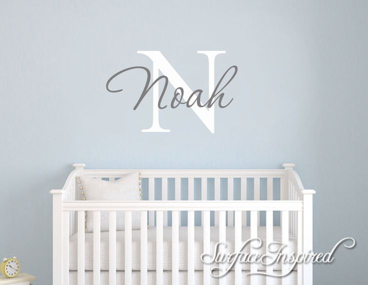 Nursery Wall Decals. Personalized names wall decal for boys and girls rooms. Personalized wall decal made in any colors and size you want by SurfaceInspired on Etsy https://www.etsy.com/listing/500410031/nursery-wall-decals-personalized-names