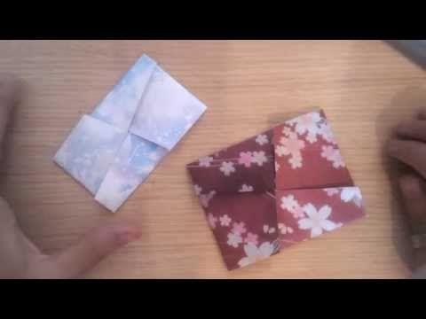 Busta Giapponese Origami Tutorial - Japanese Origami Envelope Tutorial + PDF - YouTube