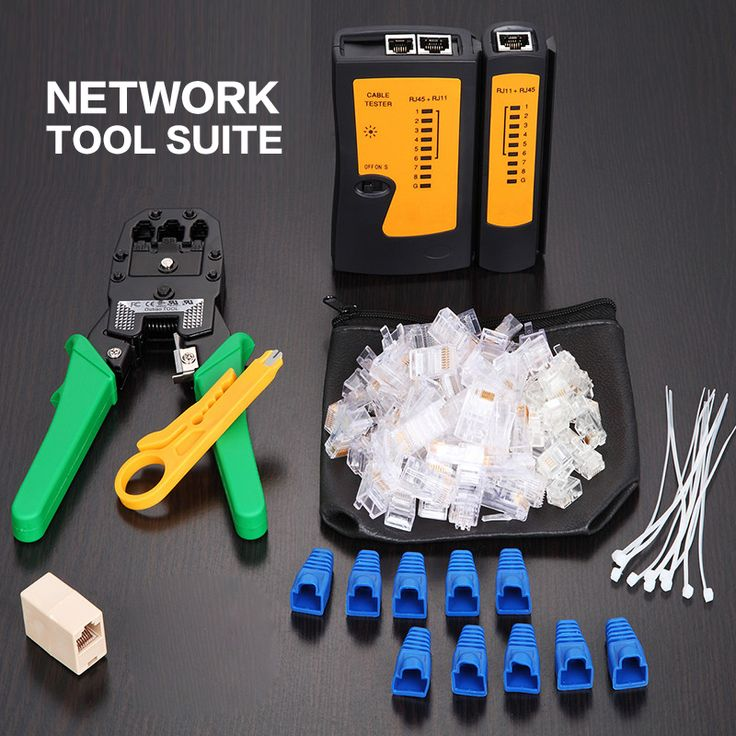 RJ45 RJ11 RJ12 CAT5 CAT5e LAN Jaringan Portabel Alat profesional Kit Kabel Utp Tester DAN Plier Crimp Crimper Plug Clamp PC