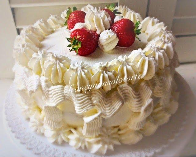 Torta crema fragole e panna