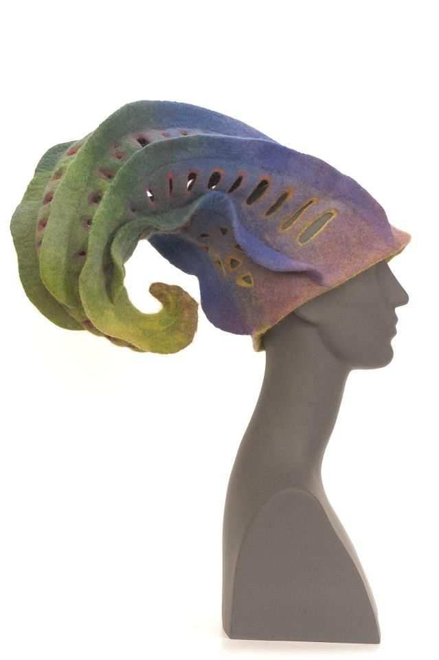 I haven't been this in love, since I was a teen ager. Felted hat by Pocs Judit.