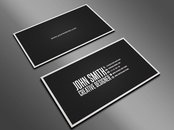 simple business card layout