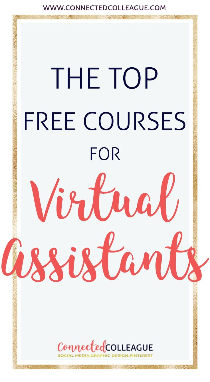 Check out our list of The Best Free E-Courses and Professional E-Courses for Virtual Assistants. Up your Social Media Game for your Virtual Assistant Business and for your Clients! #virtualassistant #virtualassistantcourses #workathomemoms