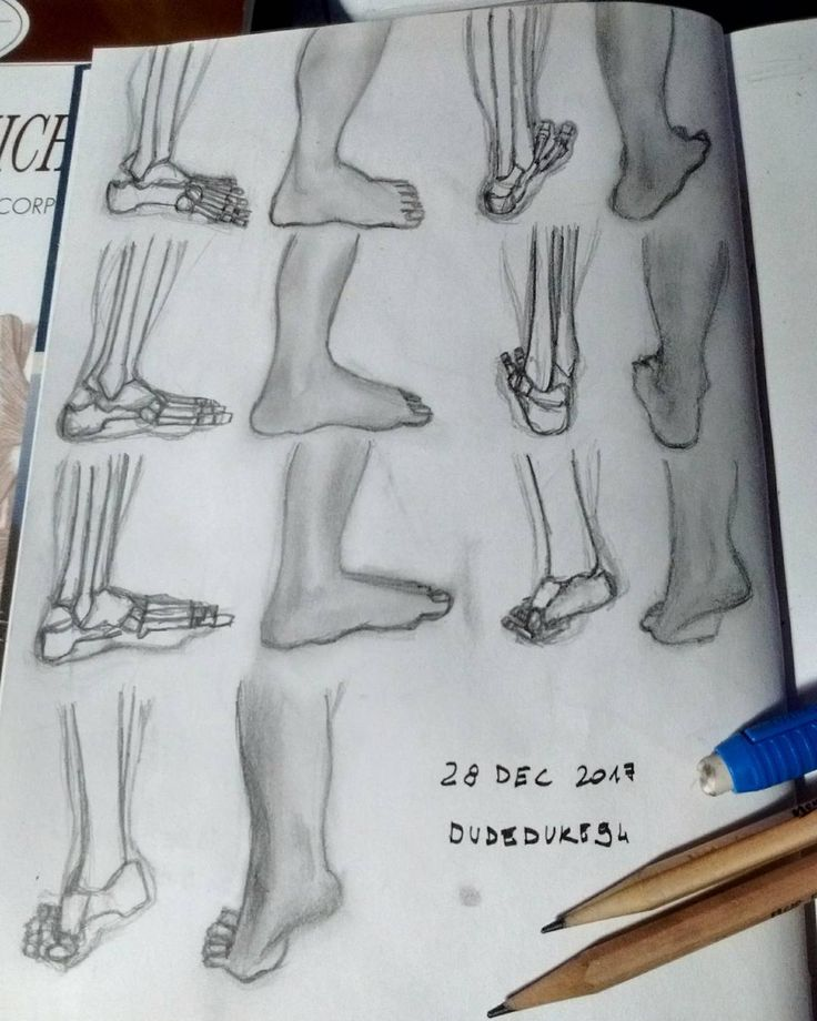 Feet part 2 #dudeduke94 #drawing #exercise #sketch #feet #foot #anatomy #bones #traditionalart #pencils #sketchbook