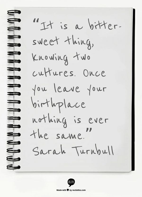 Sarah Turnball Quote