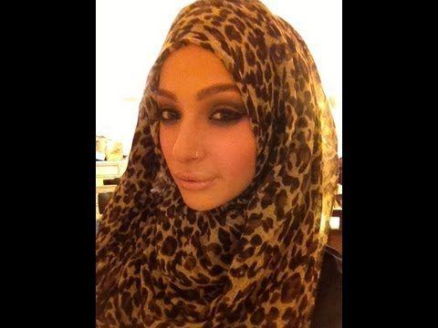 Leopard print hijab