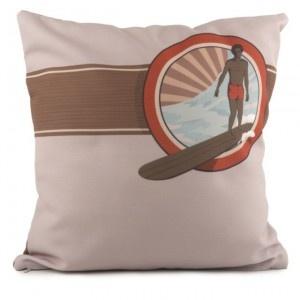 COUSSIN SURF SESSION 40 X 40 - Coussin de décoration pour votre intérieur en bord de mer ou en ville.  #surf