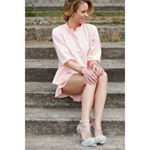 Ready to wear - WMWear, Pink Matching Short and Shirt, Fur Sandals