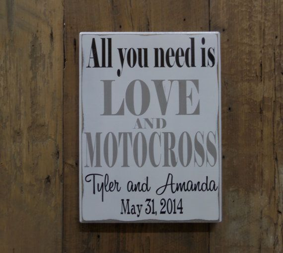 All you need is LOVE and MOTOCROSS Personalized by CSSDesign, $40.00