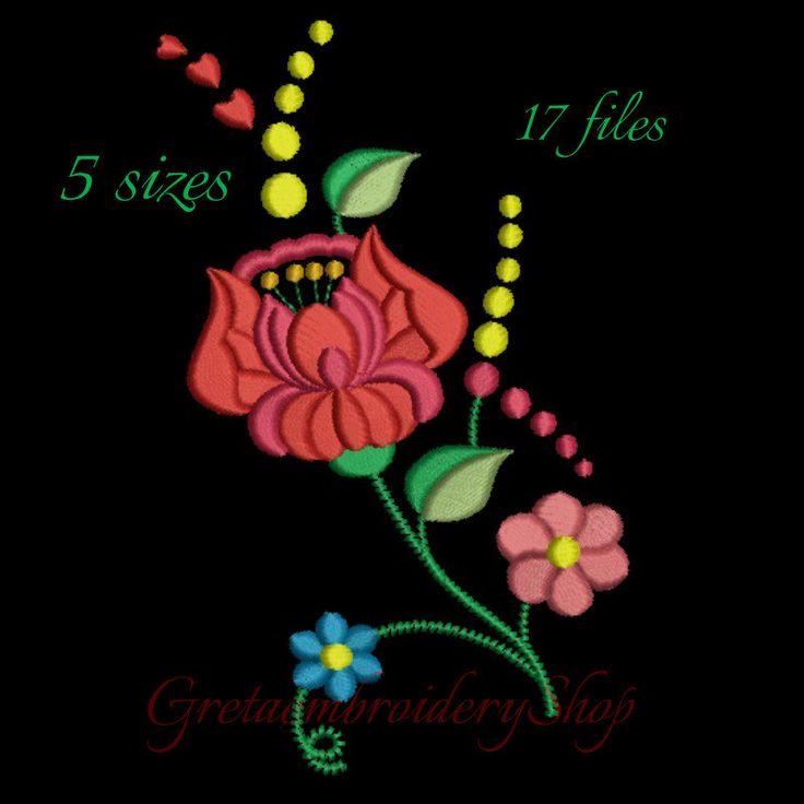 Kalocsa embroidery design,Flower design,Flower pattern,instant download,machine embroidery,Kalocsa design,Hungarian design,folk design by GretaembroideryShop on Etsy