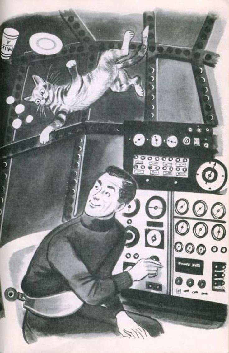 Interior art from the first Space Cat book.