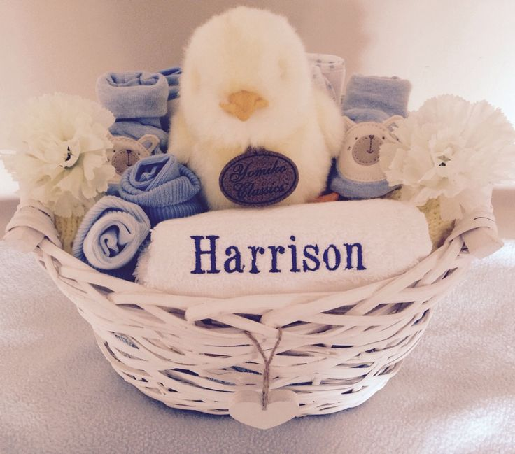 Image of Charlie the Chick - Personalised Baby Basket
