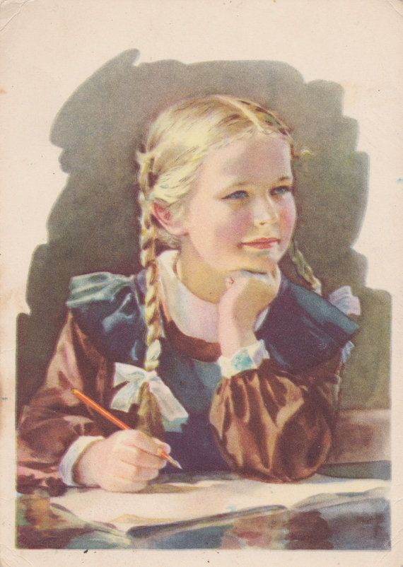 Signed. S. Godyna Excellent Student Postcard by RussianSoulVintage