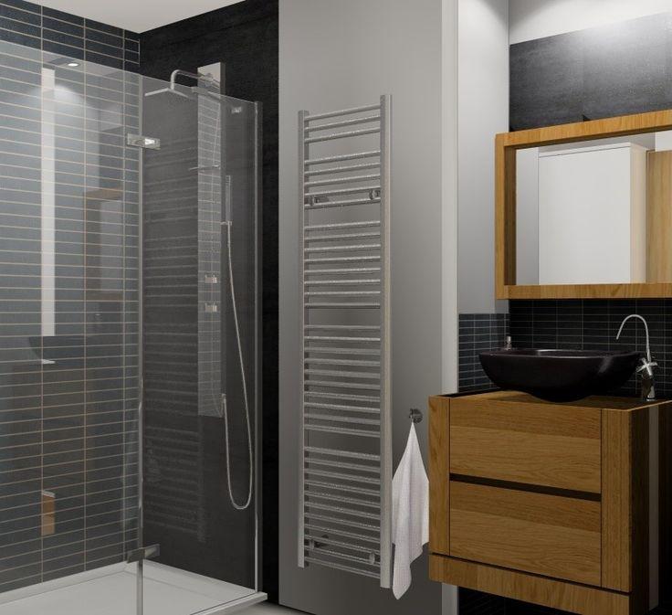 Salle de bain, petit espace, image virtuelle 3d