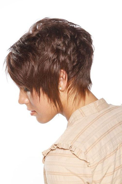 short razor cut hairstyles for thick hair