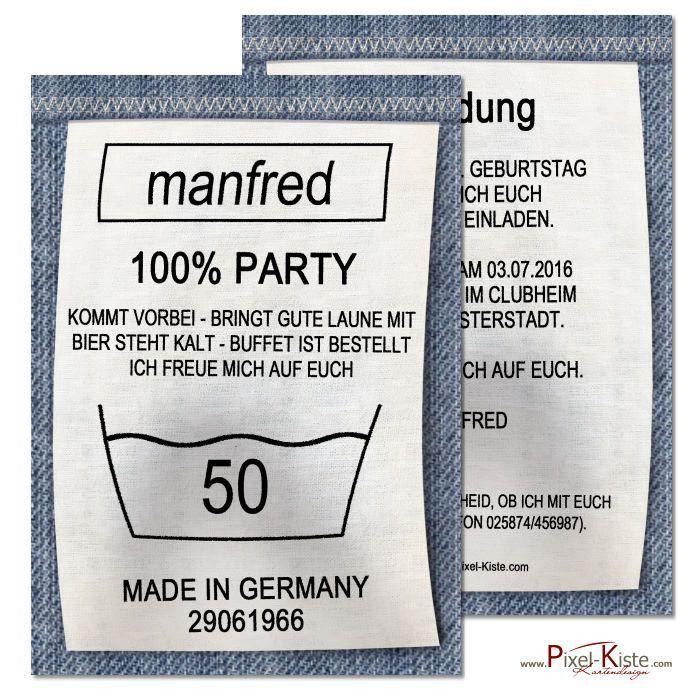 Witzige Einladungskarten zum Geburtstag als Waschanleitung #Einladungen…