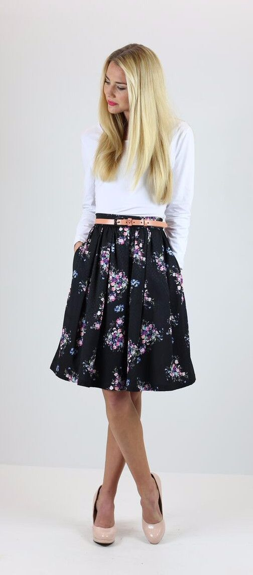 17 Best ideas about Black Skirt Outfits on Pinterest | Black ...