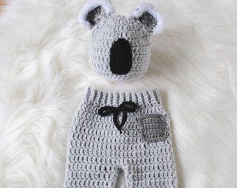 Bebé oso sombrero, sombrero del bebé Koala, Koala bebé traje, bebé oso traje, traje de Halloween del bebé, oso recién nacido, recién nacido Halloween traje