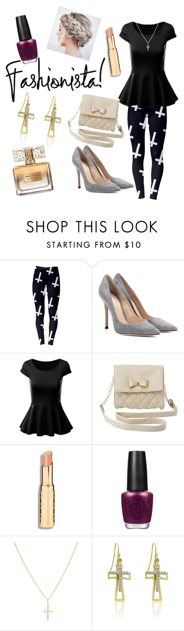 """Sunday Church Outfit"" by nataliekay613 ❤ liked on Polyvore featuring Gianvito Rossi, Charlotte Russe, OPI, Sydney Evan, Finesque and Givenchy"
