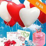 herzluftballons mit helium