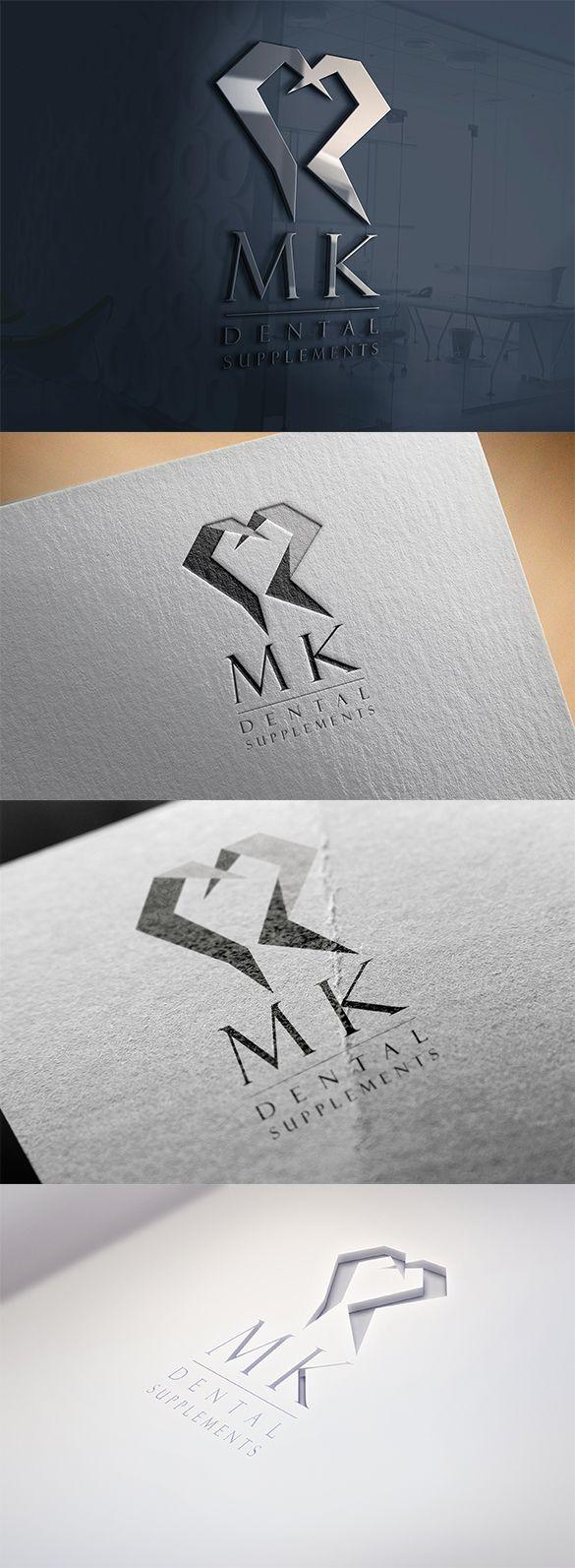 MK for dental supplements logo design