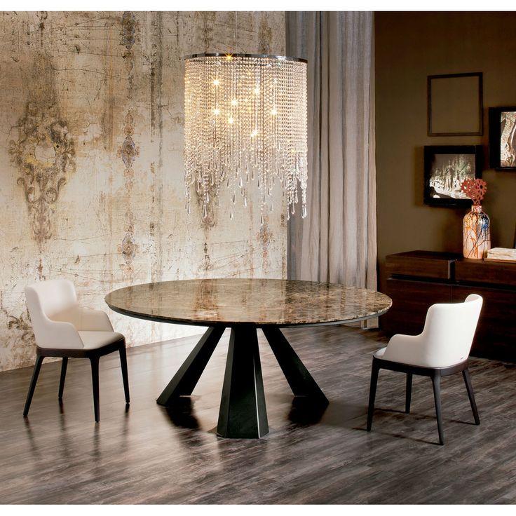 Cattelan Italia Mesa de diseño Eliot Round Mesa de comedor circular Eliot Round de Cattelan Italia. Consigue un comedor elegante y moderno con muebles de...