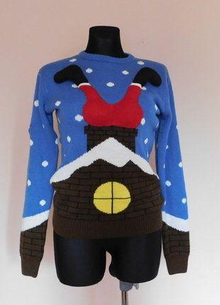 Kup mój przedmiot na #vintedpl http://www.vinted.pl/damska-odziez/bluzy-i-swetry-inne/17686323-cedarwood-swiateczny-sweter-niebieski-38-40