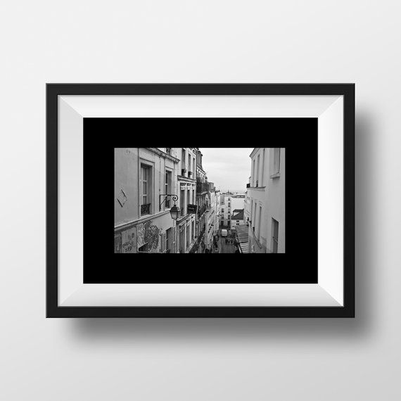 Black and white paris print Paris photography by BonVoyageStudio