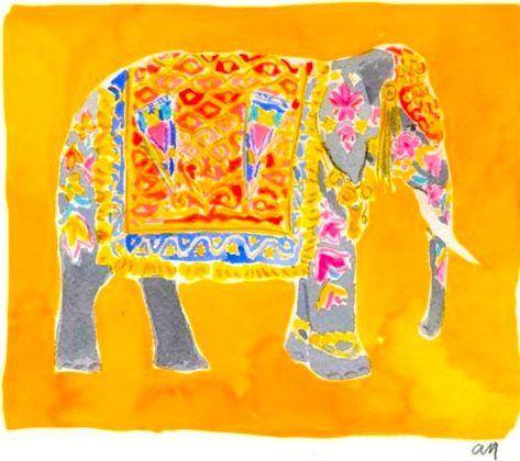 Orange and Yellow Elephant: Elephant Art, Animals Elephants, Color Now, Artful Elephant, Random Life, Bus Yellow