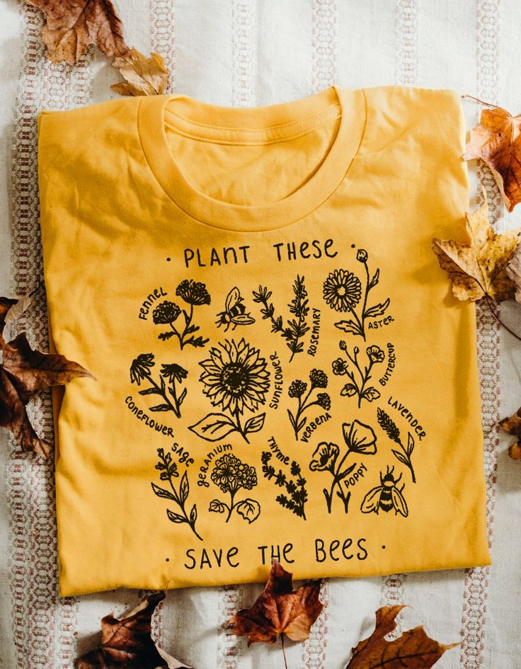 Plant These, Save The Bees – Tee – Wholesome Culture