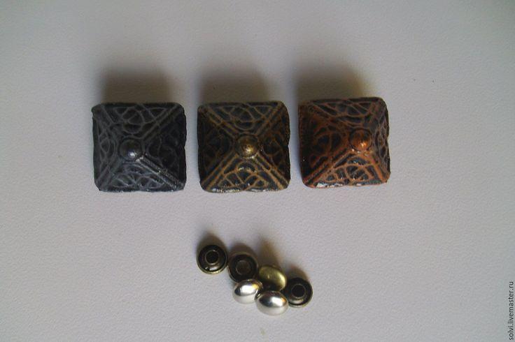 """Купить Заклепка """"Кельтская пирамида"""" - серебряный, для ремней, металлофурнитура, для браслетов, ошейники для собак, средневековый стиль"""