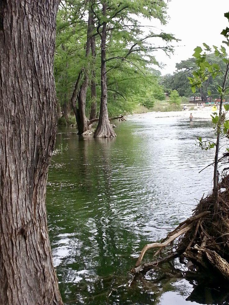 Frío River in Gardner State Park. Concan, Texas.