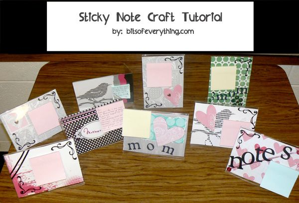 Bits Of Everything: Sticky-note craft tutorial