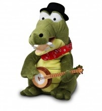 """Later Gator Animated Plush Cuddle Barn Sings """"See You Later Alligator""""  $28.00 Sold at Baby Family Gifts Ebay #alligator #toy #sings #kids #play #stuffedanimal"""