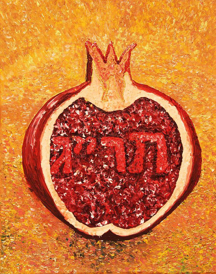613 Commandments Painting - 613 Commandments  613 Seeds by Alisa Poplavskaya