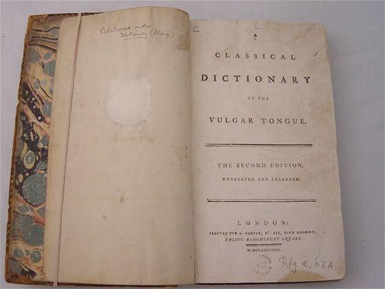 Dictionarul englezei vulgare din secolul al XIX-lea