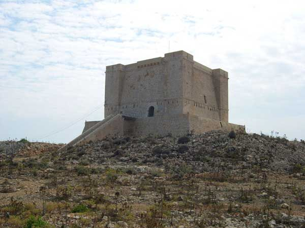 150 The Comino Tower . We were lucky that the front door was open as work was being carried out and we had the opportunity to have a look inside.