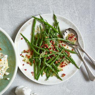 Rezept von Rose Marie Donhauser: Grüne Bohnen mit Speck- oder Veggie-Stippe