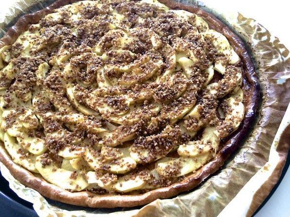 Tarte aux pommes et beurre salé // www.tweet.fr