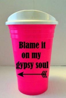 Blame It On My Gypsy Soul Travel Coffee Mug, FREE SHIPPING- Custom Travel Mug, Christmas Gift for Her, Birthday Gift for Her, Coffee Mug $18.99