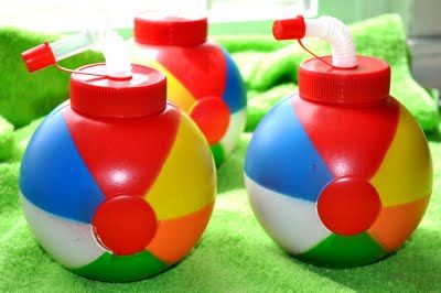 Pool Party Sports Bottles - Kara's Party Ideas - The Place for All Things Party