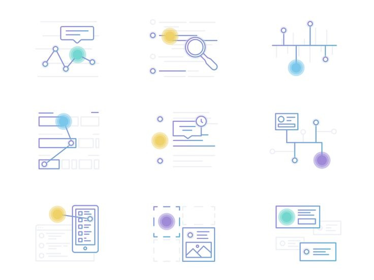 Analytics Icons by Kyle Anthony Miller http://iconutopia.com/best-icons-of-the-week-week-9/